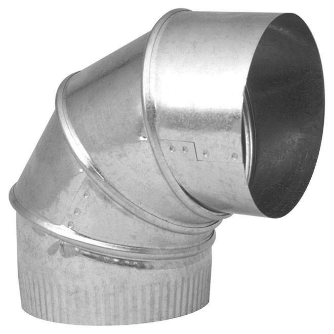 """Coude en acier galvanisé de 4"""" de diamètre à angle 0° à 90°"""