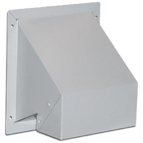 "4"" Galvanized Steel White Wall Exhaust Cap ""R2"""
