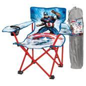 Chaise pliante pour enfant Capitaine America, bleu/rouge