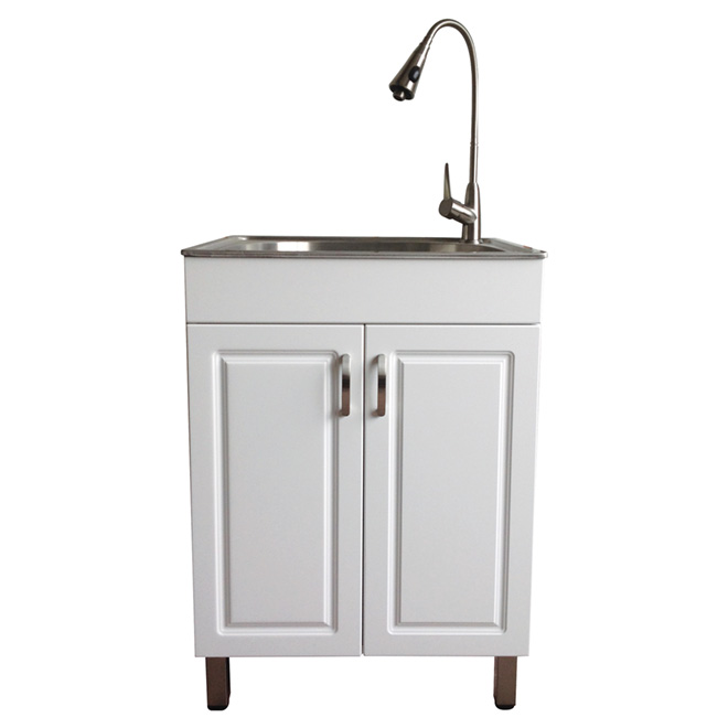 Laundry Sink With Cabinet   Flat White