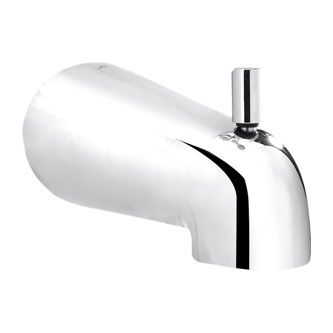 "Slip On Bathtub Spout With Diverter - 5 3/4"" - Chrome"
