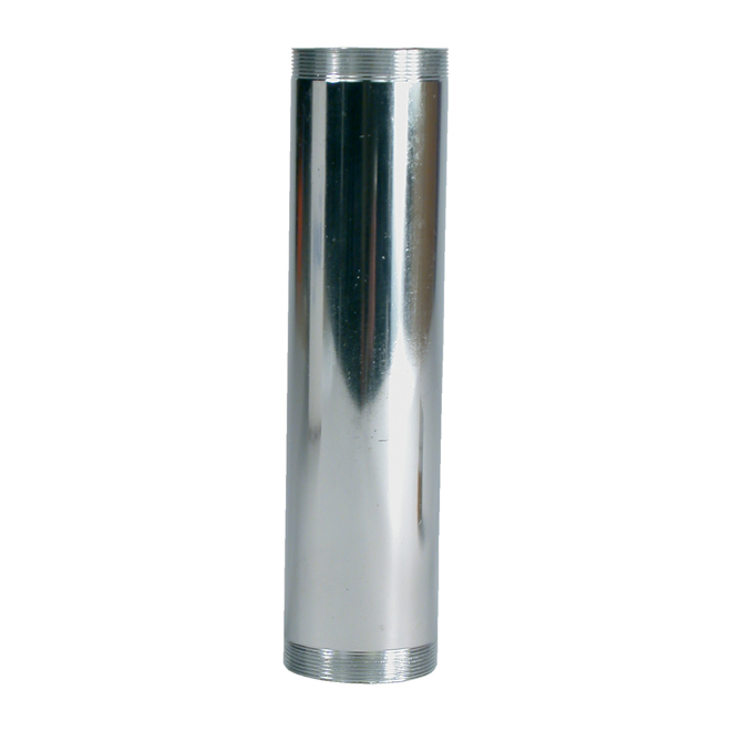 "Tube de rallonge filetée, 1 1/2"" x 6"", chrome"