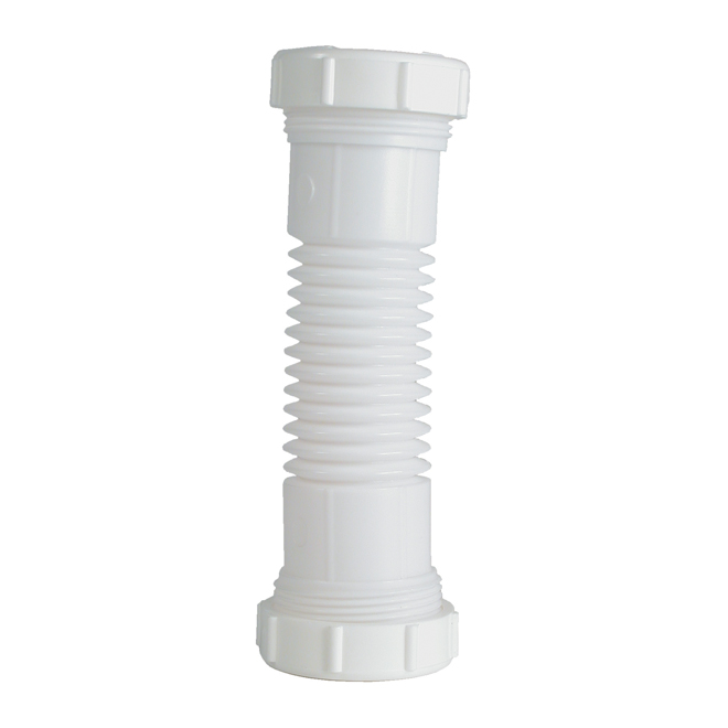 "Coupler - FLEX'N FIX - Plastic - 1 1/2""-1 1/4 x 6"" - White"