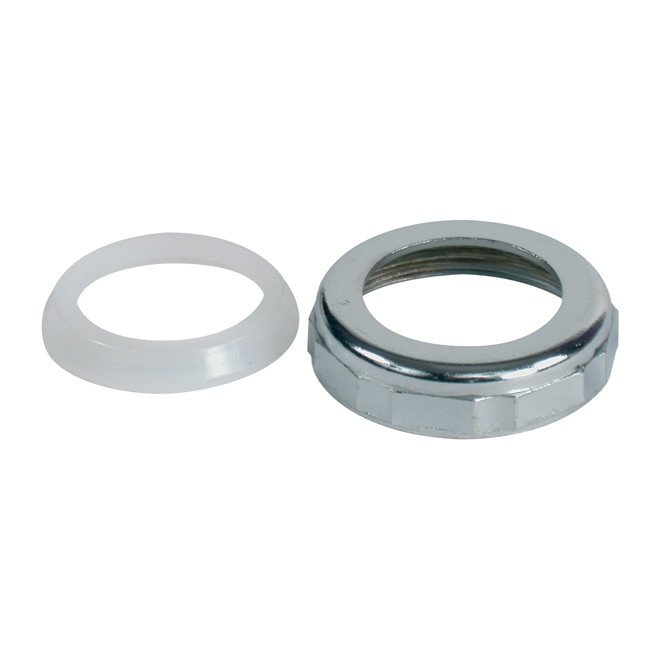 Slip Joint Nut with Washer - Brass - 1 1/2''