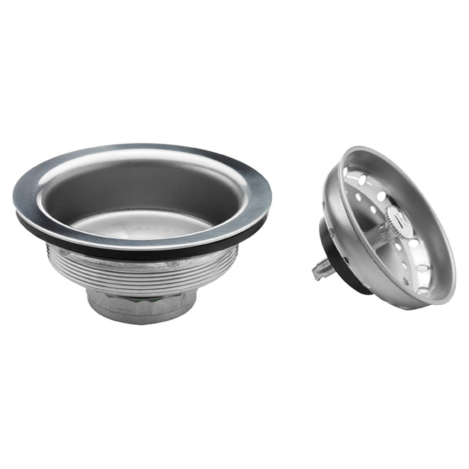 "Kitchen Sink Strainer - 3 1/2"" - Stainless Steel"