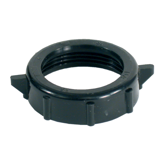Nut-Slip Joint - ABS - 1 1/4'' - Black