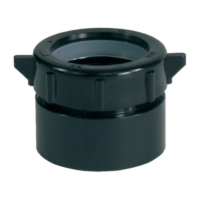 """Adaptateur de syphon, ABS, 11/2"""" X 11/2"""", noir"""