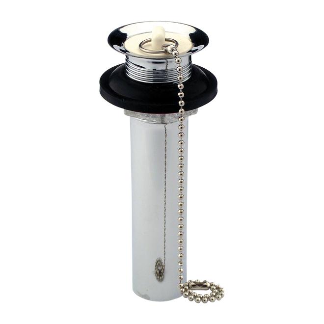 "Lavatory P.O. Plug - 11/4"" X 5"" - Round - Brass - Chrome"