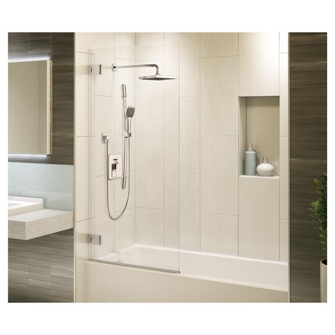 Ensemble de douche à main sur barre à glissière, Quadrato