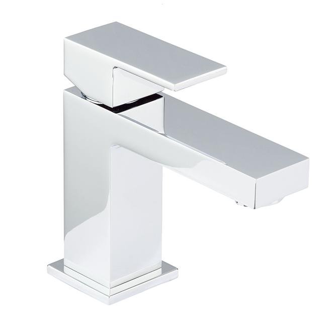 Robinet de salle de bain Bélanger Quadrato à 1 poignée, chrome poli