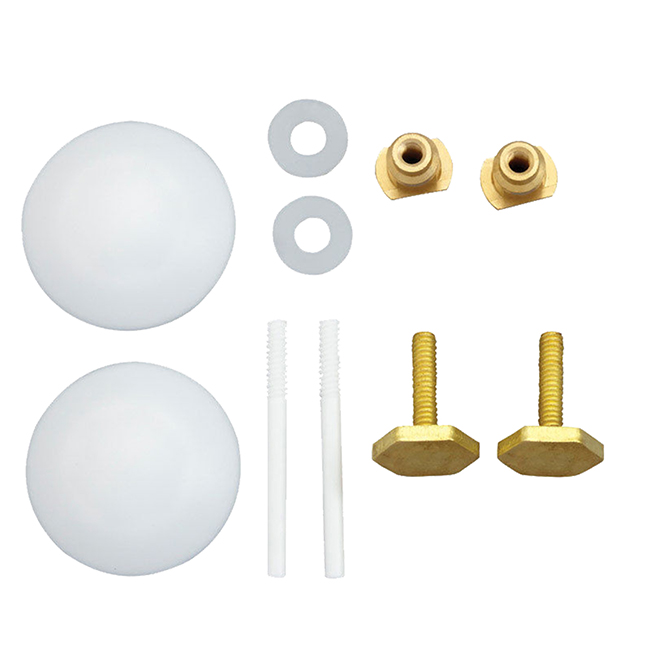 Metal And Plastic Toilet Hardware Kit