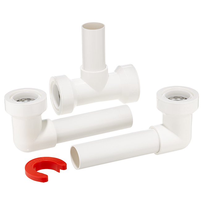 "PVC Double Bowl Sink Central Outlet - 16"" x 1 1/2"""