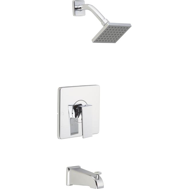 Essential Style Quadrato Tub/Shower Faucet - 80 PSI - Polished Chrome