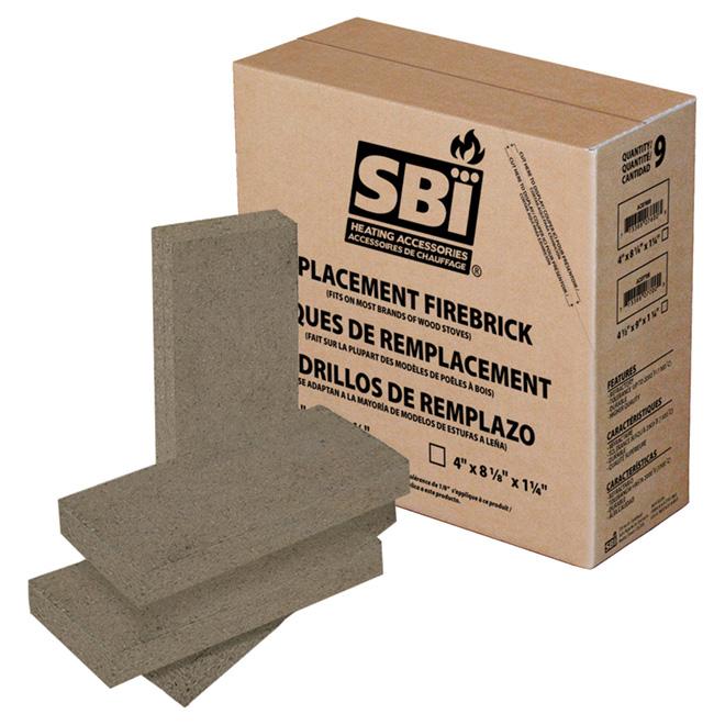 SBI Refractory Brick - Ceramic - 4.5-in x 9-in x 1.25-in