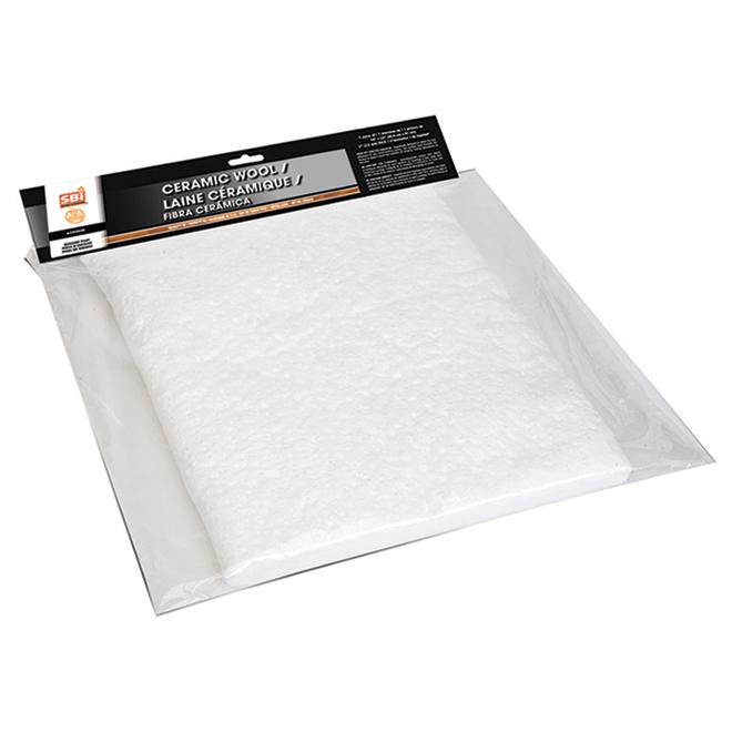SBI Ceramic Wool - 16-in x 24-in x 1-in - White