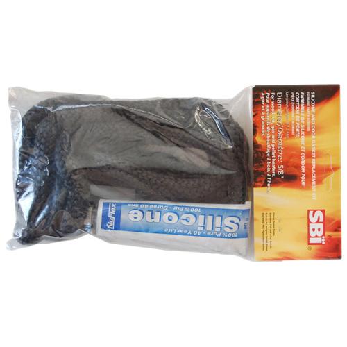 Ensemble de silicone et cordon, contour porte poêle, 8', noir