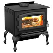 Drolet Columbia Wood Stove - Steel - Metal Black
