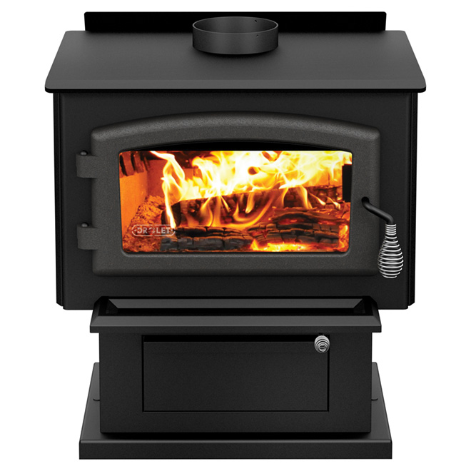 "Blackcomb Wood Stove - 26"" x 29"" - Steel - Metal Black"