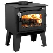 Small Wood Stove - 40,000 BTU/h - Metal - Black