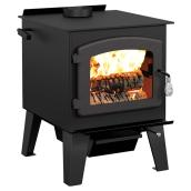 Steel Wood Stove - 90,000 BTU/h - 900-2,100 sq. ft. - Black
