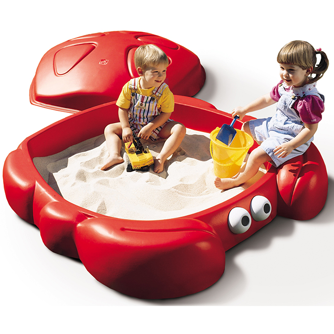 Bac à sable en résine « Crabbie », 16'' x 47,5'', rouge