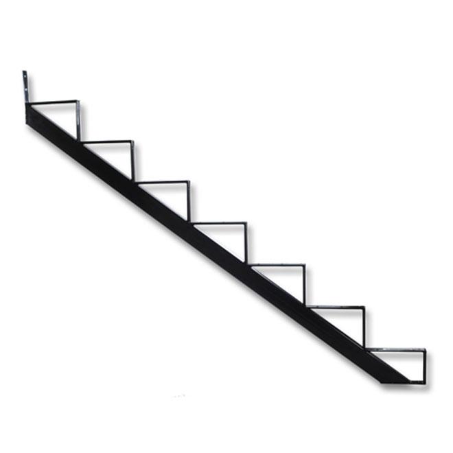 Limon d'escalier de 7 marches, noir