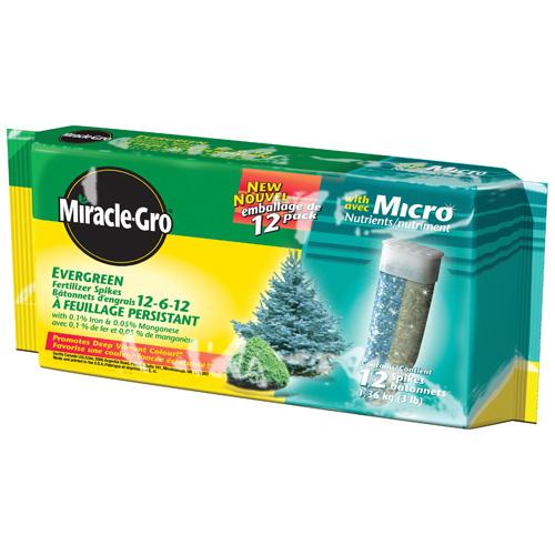 Bâtonnets d'engrais Miracle-Gro, 12-6-12, conifères, pqt-12