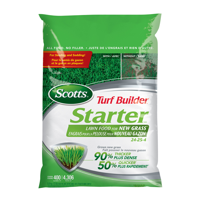 Starter lawn fertilizer
