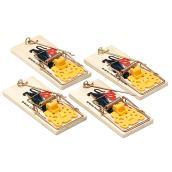 Pièges à souris traditionnels, paquet de 4