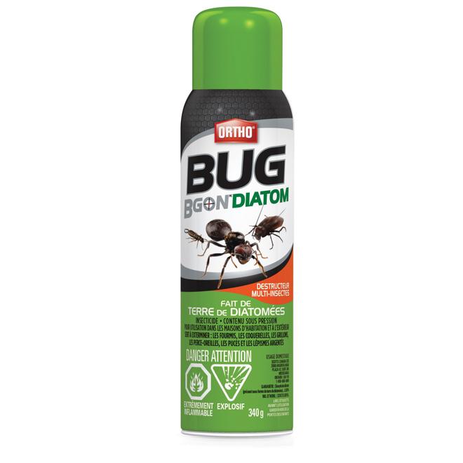 Insecticide aérosol multi Bug B Gon, terre diatomée, 340 g