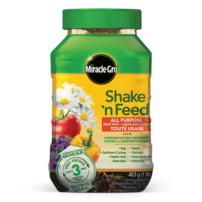 Shake 'n Feed All Purpose Plant Fertilizer - 12-4-8 - 453 g