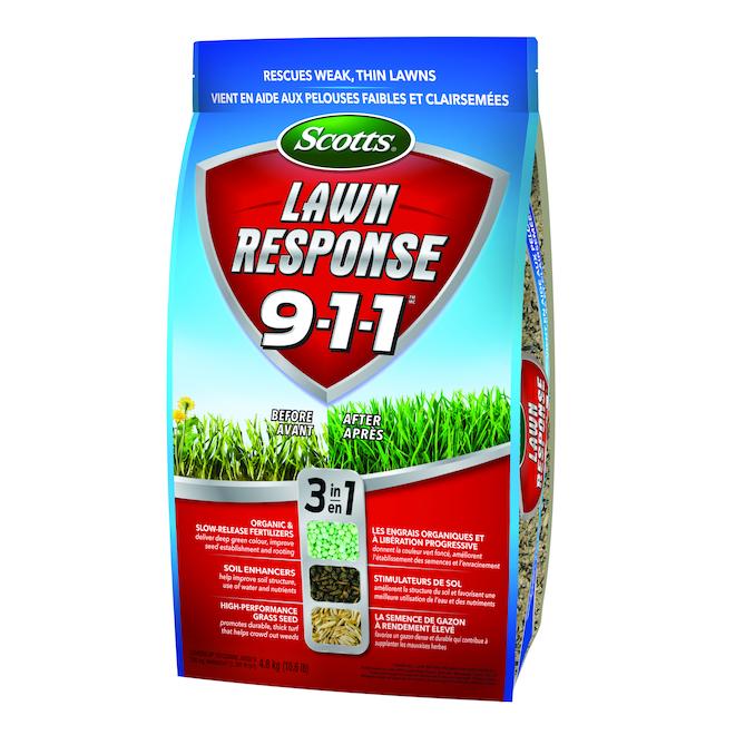 Mélange d'engrais 3-en-1, Lawn Response 911(MC), 4,8 kg