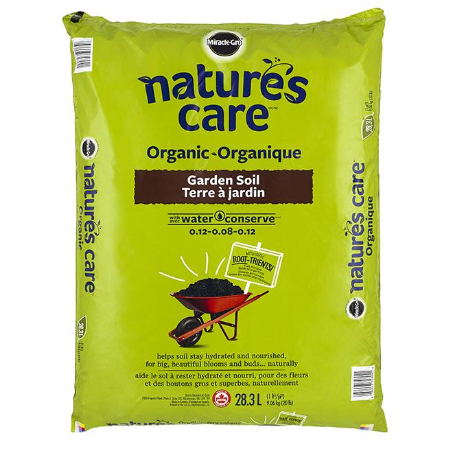 Miracle gro terre jardin biologique sac de 28 3 l - Nature s care organic garden soil ...