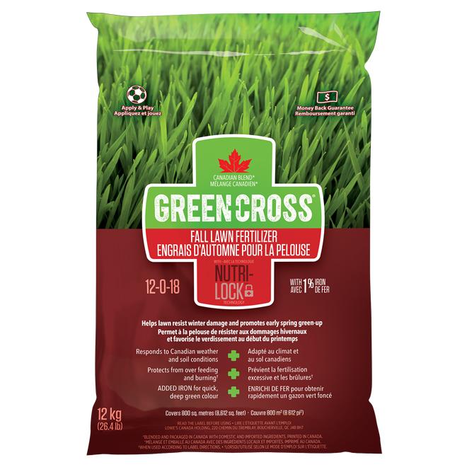 Engrais à pelouse pour l'automne, 12-0-18, 26,4 lb