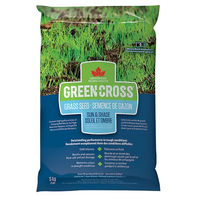 Green Cross(R) Grass Seed - Sun and Shade - 11 lb