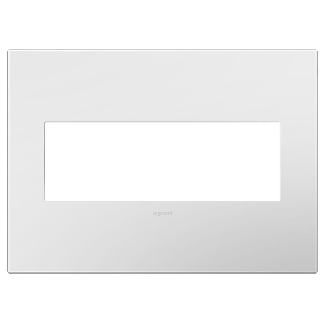 Wall Plate - 3-Gang - Steel - Gloss White