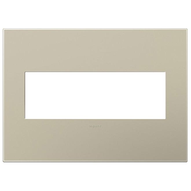 Wall Plate - 3-Gang - Steel - Titanium