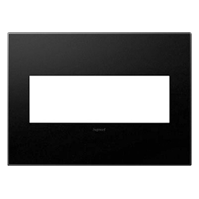 Wall Plate - 3-Gang - Plastic - Black