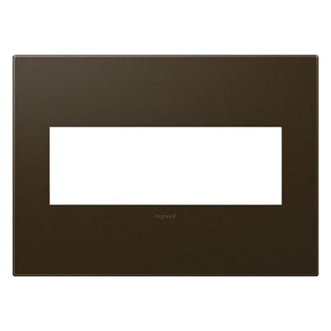 Wall Plate - 3-Gang - Steel - Bronze