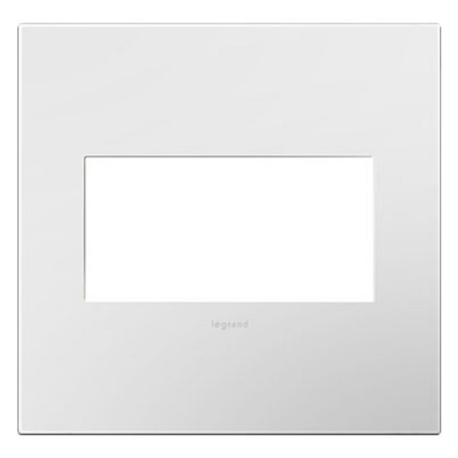 Wall Plate - 2-Gang - Steel - White