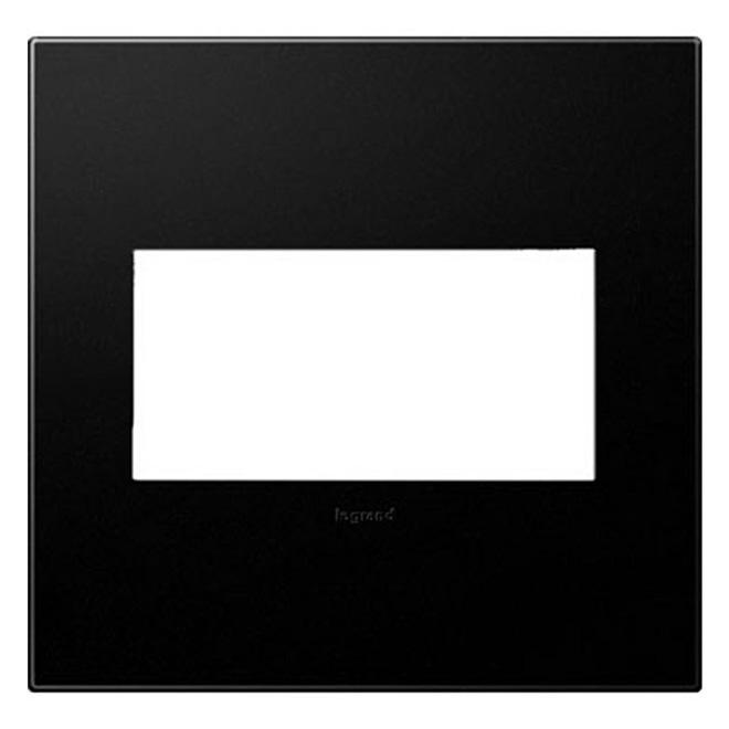 Wall Plate - 2-Gang - Plastic - Black