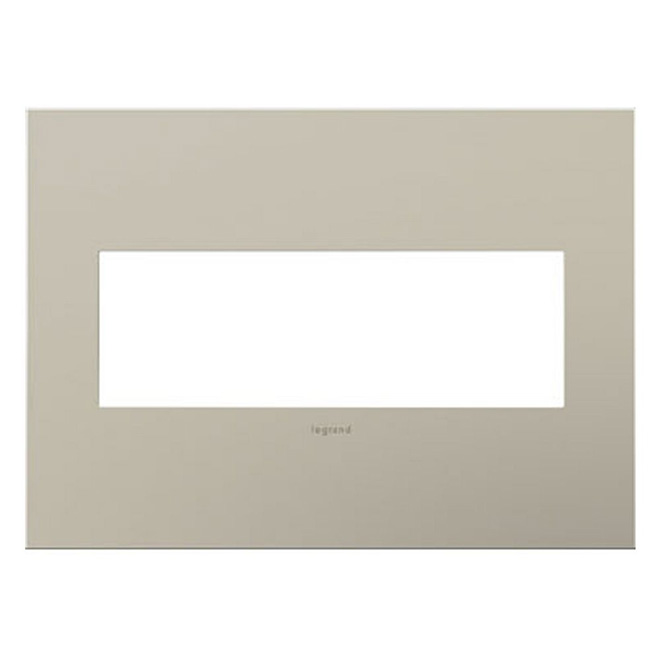Adorne 3-Gang Wall Plate - Satin Nickel