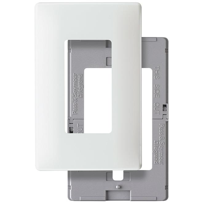 Screwless Deco Wall Plate - 1-Gang - White