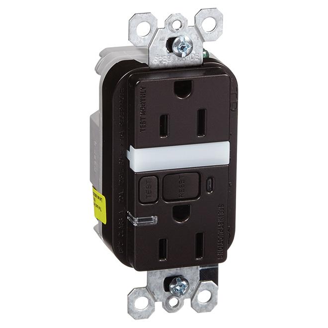 Duplex GFCI Outlet Tamper-Resistant - LED Night Light - 15A