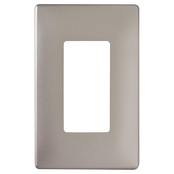 Radiant® Wall Plate - 1-Gang - Screwless - Nickel