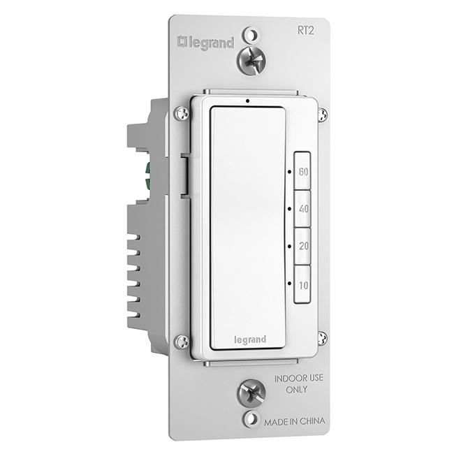 Interrupteur à minuterie radiant(MD), 4 boutons, blanc