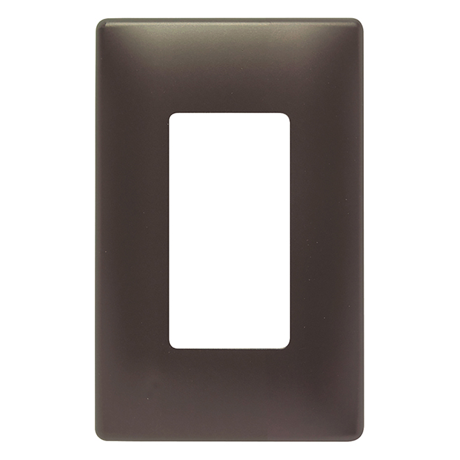 Radiant® Wall Plate - 1-Gang - Screwless - Dark Bronze