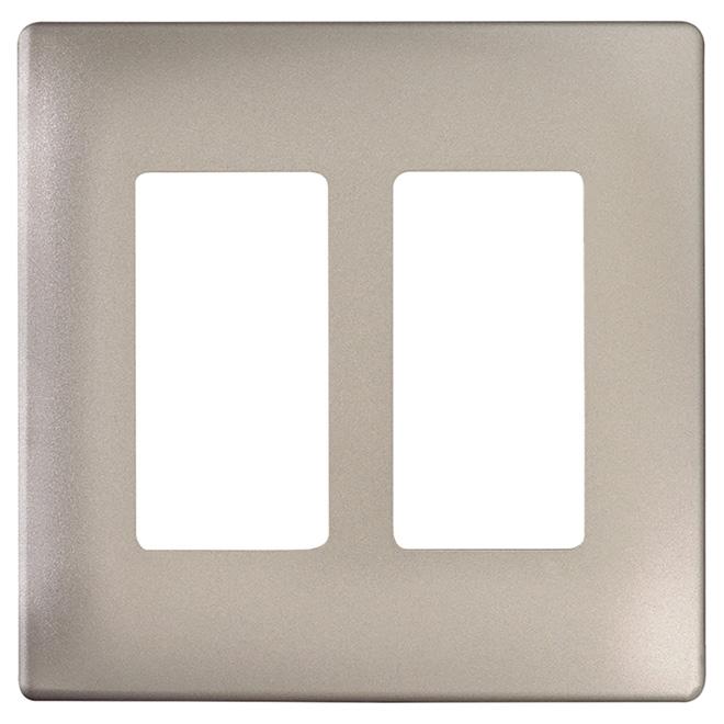 Radiant® Wall Plate - 2-Gang - Screwless - Nickel