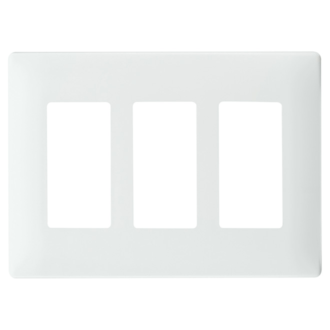 Plaque murale triple radiant(MD), sans vis, blanc