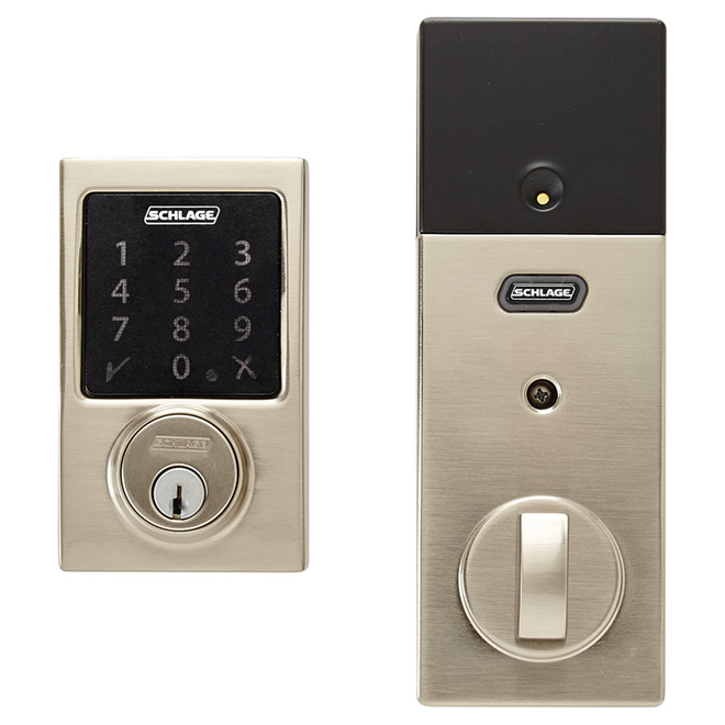 Smart Deadbolt - Connect Century - Satin Nickel